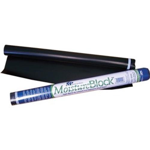 "MP Global MB006300100 30"" x 40' 100SqFt Black Moistureblock Underlayment"
