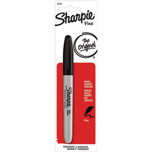 SANFORD 30101-PP SHARPIE FINE BLACK MARKER CARDED