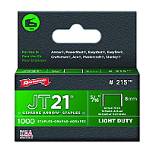 "ARROW FASTENER 215 5/16"" 8MM JT21 STAPLES"