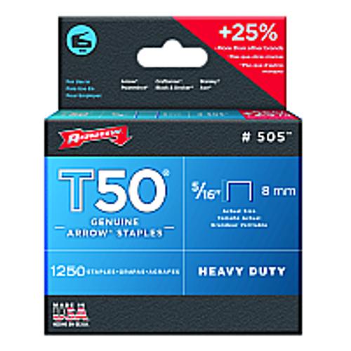 """ARROW FASTENER 505 5/16"""" 8MM T50 STAPLE - 24ct. Case"""