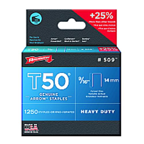 "ARROW FASTENER 509 9/16"" 14MM T50 STAPLES"