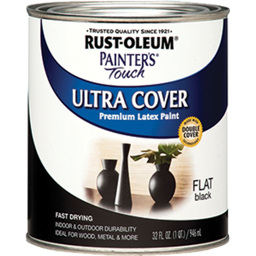 RUSTOLEUM 1976502 QT FLAT BLACK PAINTERS TOUCH