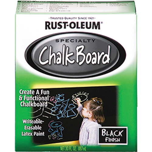 RUSTOLEUM 206540 QT BLACK CHALKBOARD BRUSH-ON PAINT