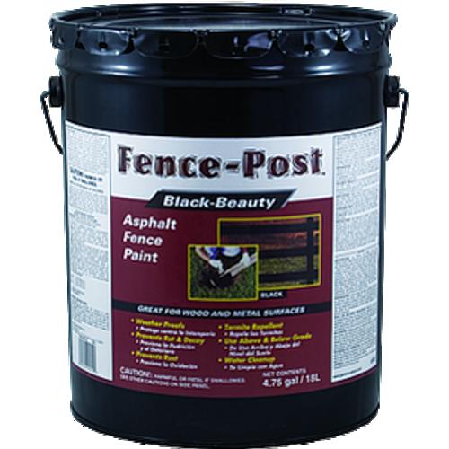 GARDNER GIBSON 9005-GA 5G BLACK FENCE POST PREMIUM ASPHALT FENCE PAINT