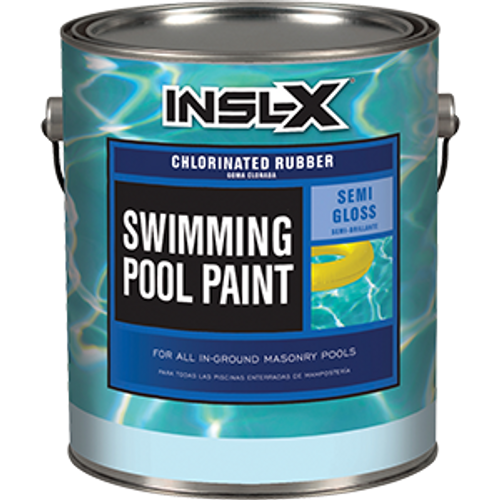 INSLX CR 2619 1G AQUAMARINE POOL PAINT CHLORINATED RUBBER