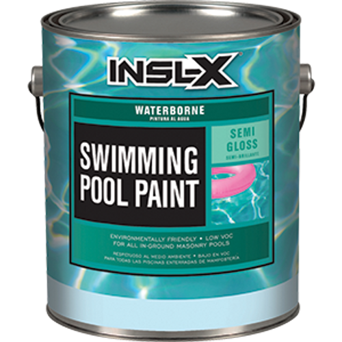 INSLX WR 1010 1G WHITE POOL PAINT WATERBORNE