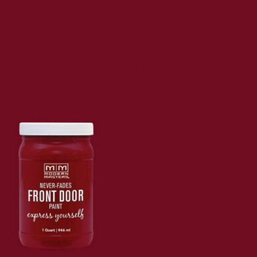 Modern Masters 275268 Qt Passionate (Red) Satin Front Door Paint