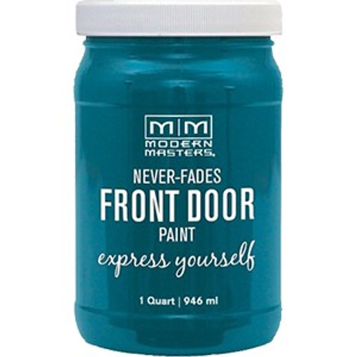 Modern Masters 296681 Qt Tranquil (Teal) Satin Front Door Paint