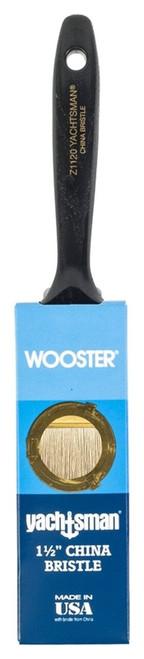 "Wooster Z1121 1-1/2"" Yachtsman White China Bristle Angle Sash Brush"