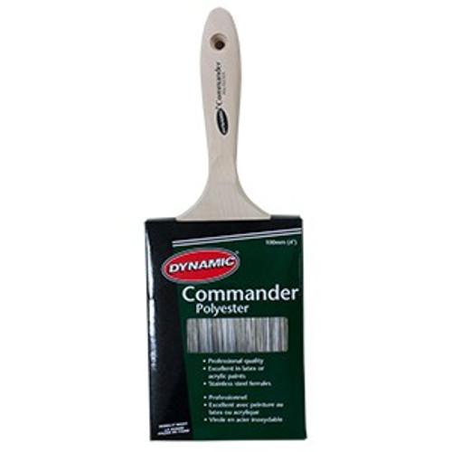 "Dynamic HB188110 100mm (4"") Commander Flat Polyester Brush"