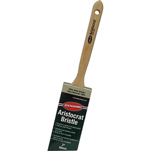 "Dynamic HB198005 50mm (2"") Aristocrat Angled White Bristle Brush"