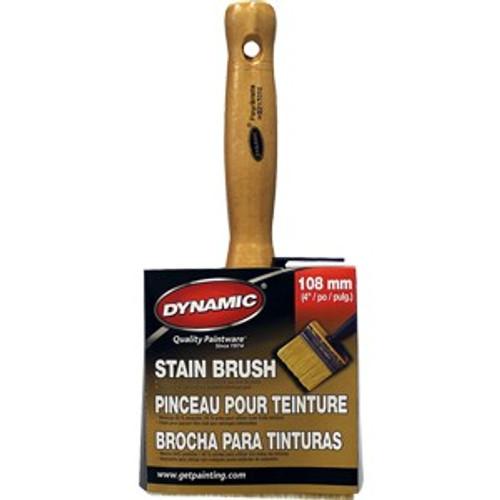 "Dynamic HB217010 100mm x 30mm (4"" x 1-1/4"") Thick Stain Brush"
