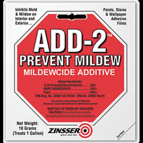 ZINSSER 60511 10 GRAM ADD-2 MILDEWCIDE ADDITIVE (TREATS 1 GAL)