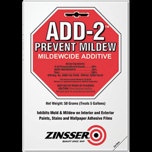 ZINSSER 60510 50 GRAM ADD-2 MILDEWCIDE ADDITIVE (TREATS 5 GAL)