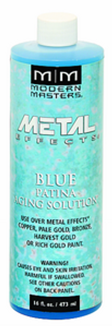 MODERN MASTERS PA902 16OZ BLUE PATINA AGING SOLUTION