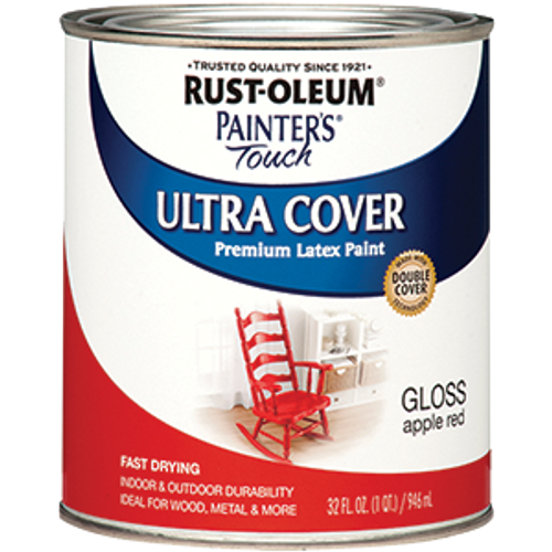 RUSTOLEUM 1966502 QT GLOSS APPLE RED PAINTERS TOUCH
