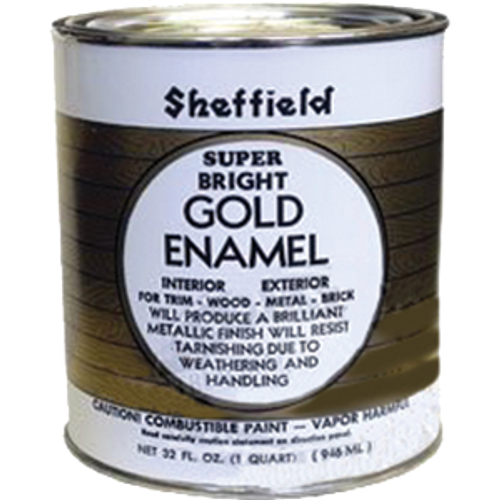 SHEFFIELD 5740 QT GOLD EXTERIOR/INTERIOR METALLIC ENAMEL