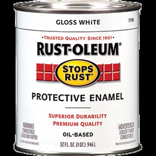 RUSTOLEUM 7792504 QT GLOSS WHITE STOPS RUST