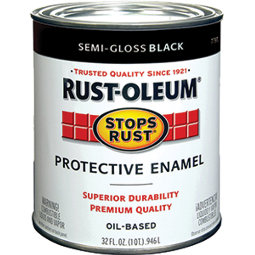 RUSTOLEUM 7798502 QT SEMI GLOSS BLACK STOPS RUST