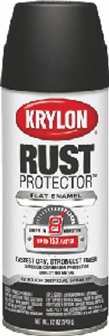KRYLON K06903500 12OZ FLAT BLACK RUST PROTECTOR ENAMEL