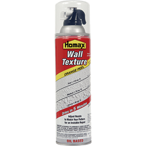 HOMAX 4055-06 20OZ ORANGE PEEL OIL BASED DRYWALL SPRAY TEXTURE