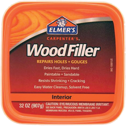 ELMERS E842L QT INTERIOR EXTERIOR CARPENTER WOOD FILLER