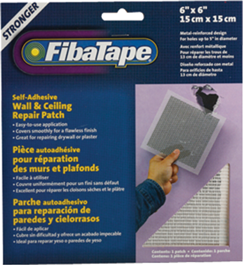 "FIBATAPE FDW6838-U 6"" X 6"" ALUMINUM PERFORATED WALL AND CEILING REPAIR PATCH"