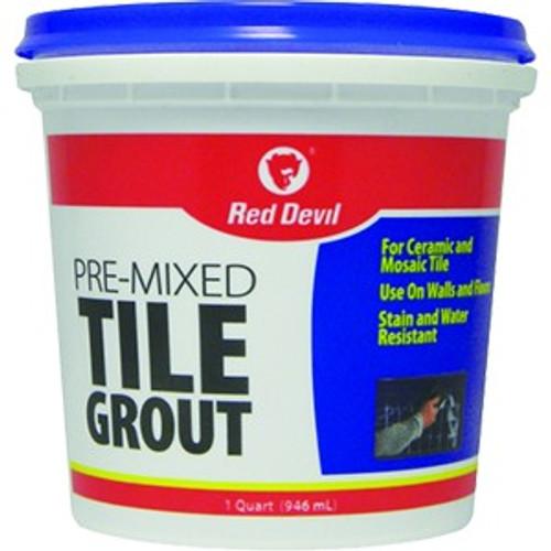 Red Devil 0424 Qt White Premixed Tile Grout