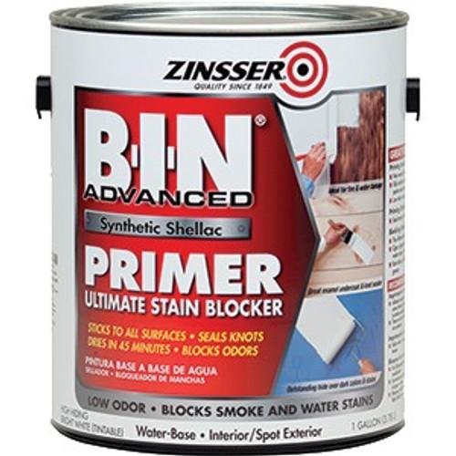 Zinsser 270976 1G B-I-N Adv White Synthetic Shellac Stain & Odor Blocking Primer
