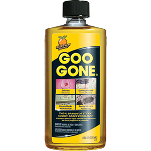 GOO GONE 2087 PP00GG12 8OZ REMOVER FOR STICKERS GREASE GUM TAR CRAYON & TAPE - 12ct. Case