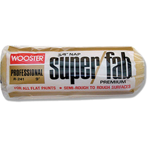 """WOOSTER R241 9"""" SUPER FAB 3/4"""" NAP ROLLER COVER"""