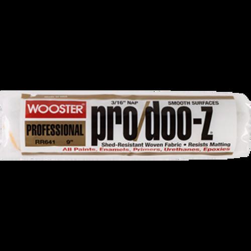 "Wooster RR641 9"" Pro/Doo-Z 3/16"" Nap Roller Cover - 12ct. Case"