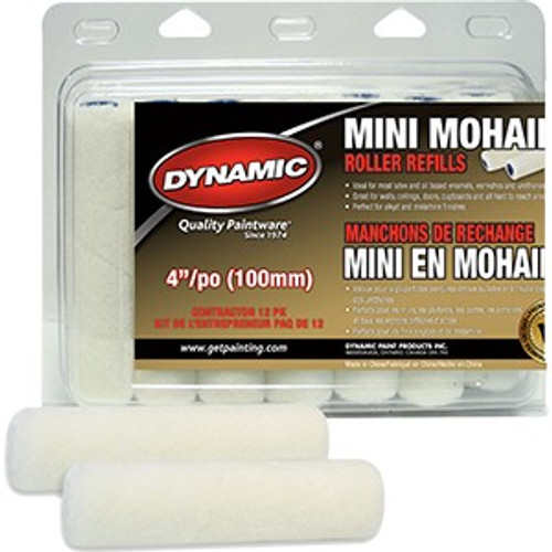 "Dynamic HM005402 100mm (4"") Mini Mohair Refill 2Pk"