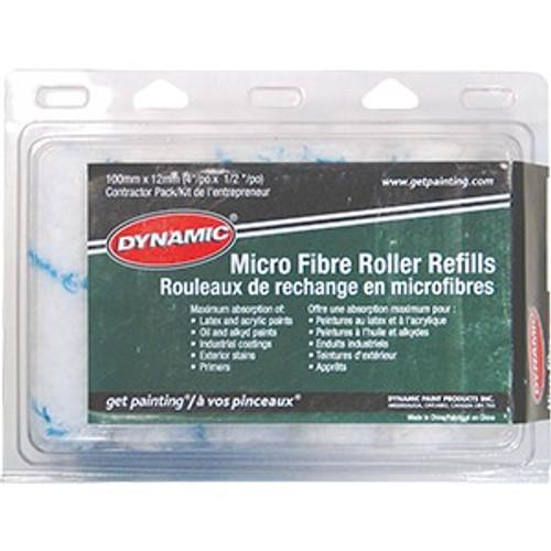 """Dynamic HM005706 100mm x 13mm (4"""" x 1/2"""") Mini Micro Fiber Refill 10Pk"""