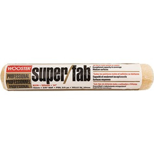 """Wooster R239 14"""" Super/Fab 3/8"""" Nap Roller Cover"""