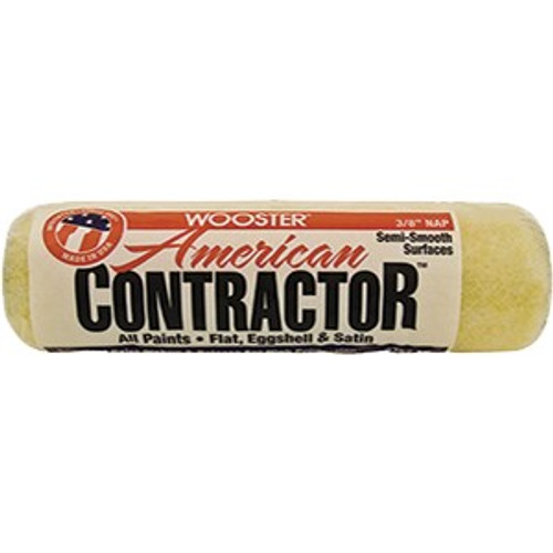 """Wooster R562 9"""" American Contractor 3/8"""" Nap Roller Cover"""