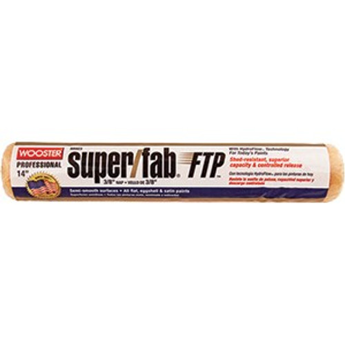 """Wooster RR923 14"""" Super/Fab FTP 3/8"""" Nap Roller Cover"""