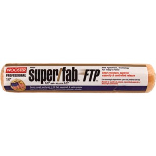 """Wooster RR924 14"""" Super/Fab FTP 1/2"""" Nap Roller Cover"""