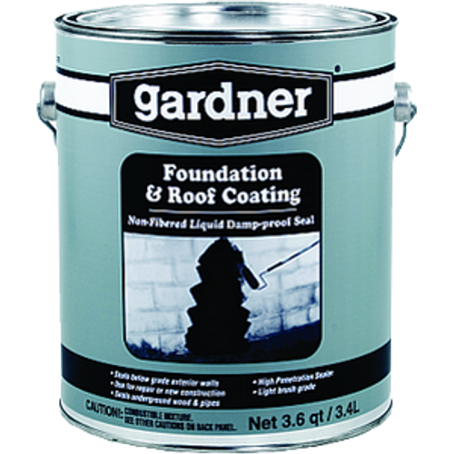 GARDNER GIBSON 0121-GA 1G BLACK NON FIBERED FOUNDATION & ROOF COATING
