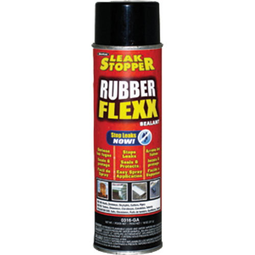 GARDNER-GIBSON 0316-GA 18OZ BLACK LEAK STOPPER RUBBER FLEXX SPRAY SEALANT