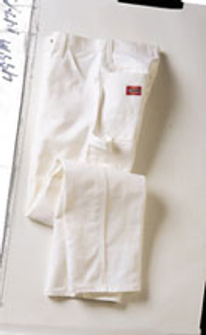 DICKIES 1953WH 34W X 30L WHITE PAINTERS PANTS