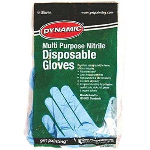 Dynamic AF002822 Large Powder Free Nitrile Disposable Glove 6Pk