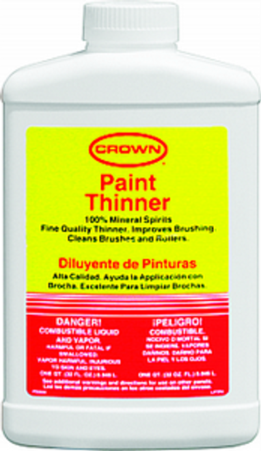 Crown CR PT P 04 Qt Paint Thinner Plastic - 6ct  Case