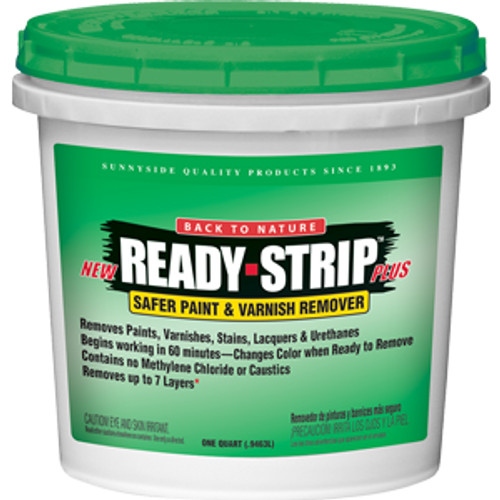 BACK TO NATURE RS25 QT READY STRIP SAFER PAINT AND VARNISH REMOVER WITH COLOR CHANGE FEATURE