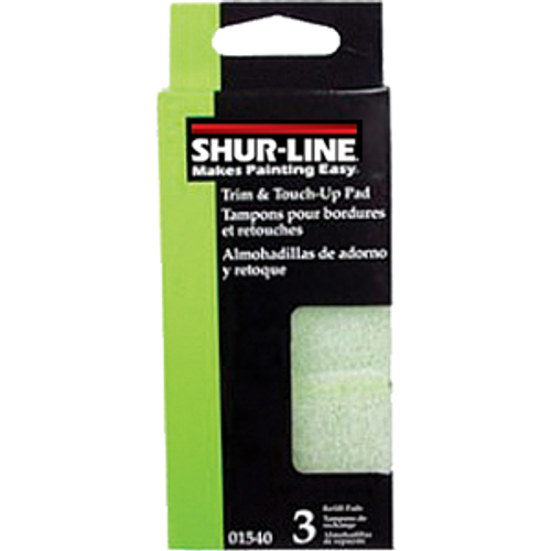 SHURLINE 01540 MINI TRIM PAD PAINTER REFILLS 3PK