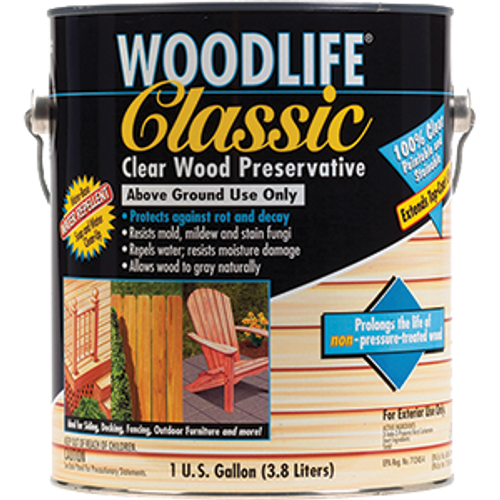 ZINSSER 00903 1G CLASSIC CLEAR WOODLIFE WOOD PRESERVATIVE WATER BASE