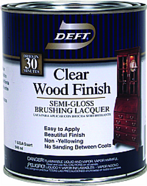 DEFT 011-04 QT SEMI GLOSS CLEAR WOOD FINISH