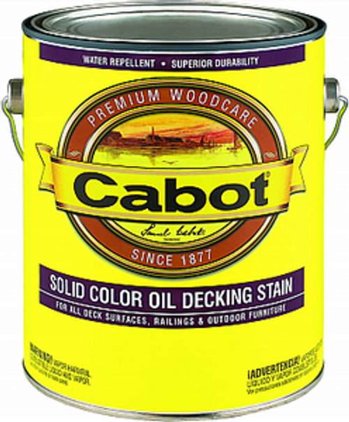 CABOT 1607 1G DEEP BASE SOLID OIL DECKING STAIN