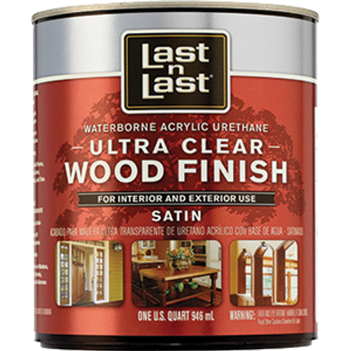 ABSOLUTE 13104 QT SATIN ULTRA CLEAR LAST N LAST WATERBORNE WOOD FINISH