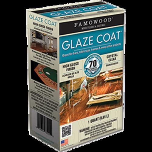 FAMOWOOD 5050080 QT CLEAR GLAZE COAT HIGH BUILD EPOXY COATING 2 PART KIT